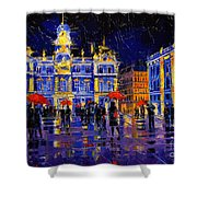 The Festival Of Lights In Lyon France Shower Curtain