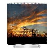 The Fiery Sky Shower Curtain