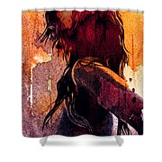 The Fighter Shower Curtain