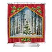 The Fir Tree Shower Curtain