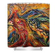 The Fire Dance Shower Curtain