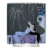The Fire Shower Curtain by Georges Barbier