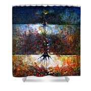 The Fire Of Forest-the Fire Of Heart Shower Curtain