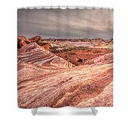The Fire Wave Shower Curtain