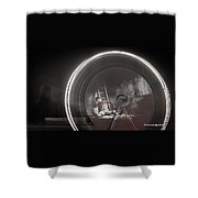 The Fire Wheel Ghost Man Shower Curtain