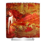 The Fire Within Shower Curtain by Jacky Gerritsen