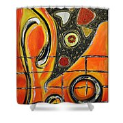 The Fires Of Charged Emotions Shower Curtain