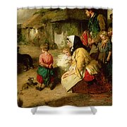 The First Break In The Family Shower Curtain by Thomas Faed