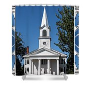 The First Church Of Evans In New York State Shower Curtain