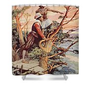 The First Englishman To See The Pacific Shower Curtain