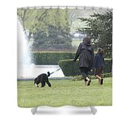 The First Family And Bo Shower Curtain