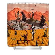 The First Man, Adam, Greeting An Alien Shower Curtain