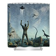The First Man, Adam, Greets The Return Shower Curtain