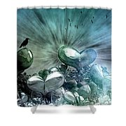 Lost Hearts Shower Curtain
