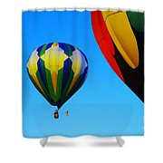 The First One Up  Shower Curtain by Jeff Swan