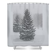 The First Snow Of Christmas Shower Curtain