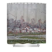 The First Snowflakes Of The Season  Shower Curtain
