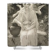 The First Whisper Of Love After Bouguereau Shower Curtain