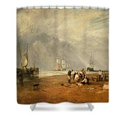 The Fish Market At Hastings Beach Shower Curtain