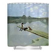 The Fisherman, 1884 Shower Curtain