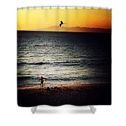 The Fisherman And His Shadow Shower Curtain