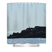 The Fisherman And The Edge Of The World Shower Curtain