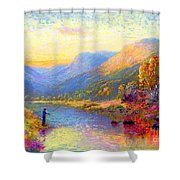 Fishing And Dreaming Shower Curtain