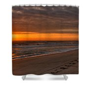 The Fisherman's Golden Hour Shower Curtain