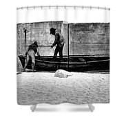 The Fishermen And The Sea... Shower Curtain