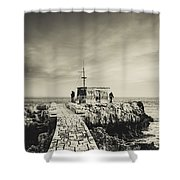 The Fishermen's Hut Shower Curtain by Marco Oliveira