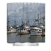 The Fishing Boats At Westport Shower Curtain