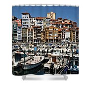The Fishing Village Shower Curtain