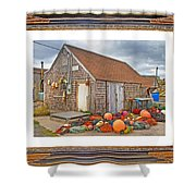 The Fishing Village Scene Shower Curtain