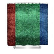 The Flag Of The Planet Mars Shower Curtain