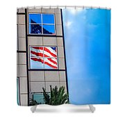 The Flag That Never Hides Shower Curtain