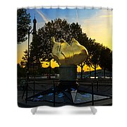 The Flame Of Liberty In Paris Shower Curtain