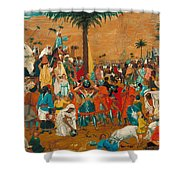 The Flight Out Of Egypt Shower Curtain