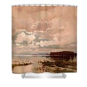 The Flood In The Darling 1890 Shower Curtain
