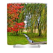 The Flow Of Autumn Shower Curtain