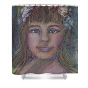 The Flower Girl Shower Curtain