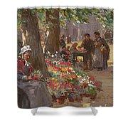 The Flower Seller Shower Curtain