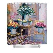 The Flower Shop Paris Shower Curtain