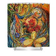 The Flowers Of Holy Land Shower Curtain