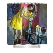 The Flowers Shower Curtain