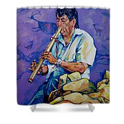 The Flute Player Shower Curtain