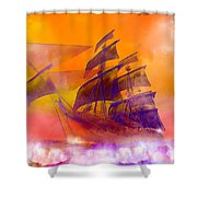 The Flying Dutchman Ghost Ship Shower Curtain