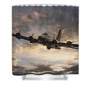 The Flying Fortress Shower Curtain
