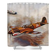 The Flying Tigers Shower Curtain