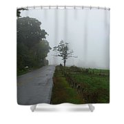 The Fog Of Road Shower Curtain