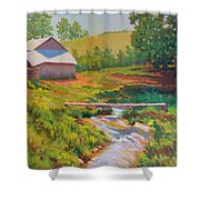 The Foot Bridge Shower Curtain